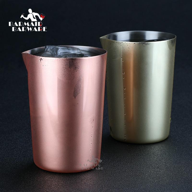 Agitadoras de acero inoxidable de 500 ml de mezcla de vidrio preferido por profesionales y aficionados igual hacer tu propio cócteles herramientas