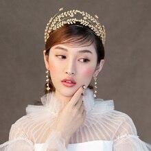 цены Himstory Top Quality Lux Wedding Bridal Bridesmaid stzr Cubic Zirconia Girls white plated zircon Big tiara crown HEadband