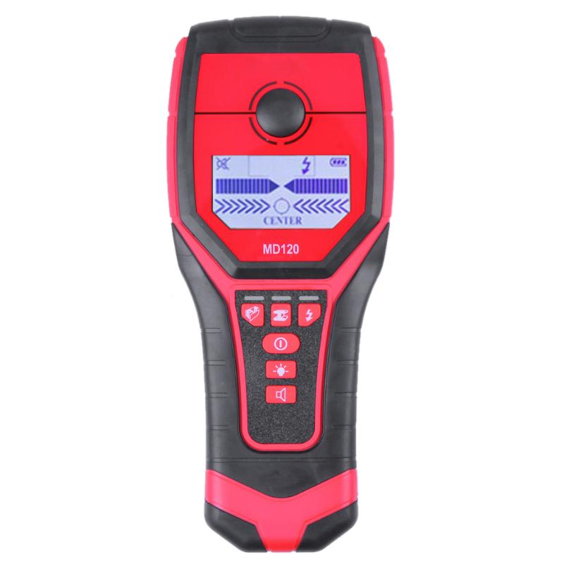 цена на Sensitive Wall Metal Detector AC Live Wire Wood Finder with LCD Display MD120 IP54 About 5 hours Operation Time Detector