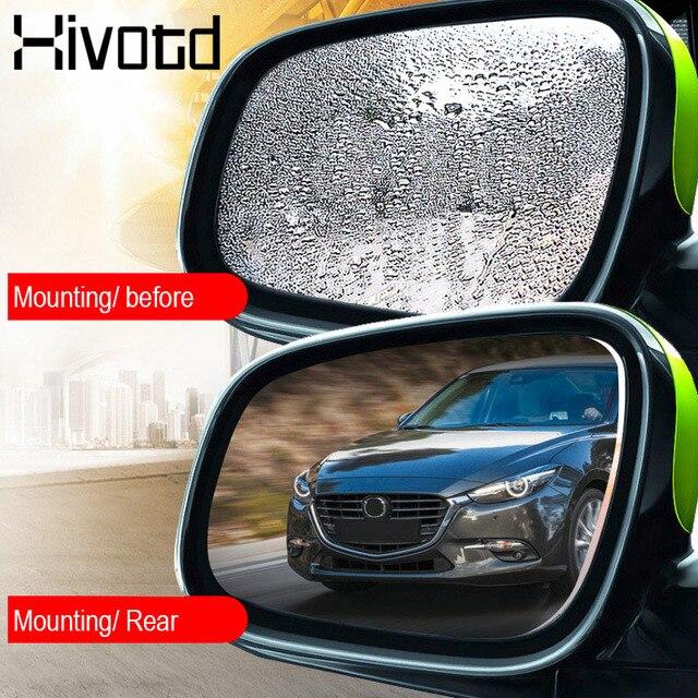 Hivotd لبيجو 307 206 3008 208 407 207 508 سيارة مرآة نافذة فيلم واضح مكافحة انبهار مرآة الرؤية الخلفية ملصق سيارة اكسسوارات