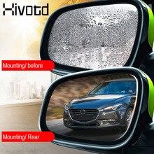 Hivotd per Peugeot 307 206 3008 208 407 207 508 Auto Finestra specchio Pellicola Trasparente Anti Abbagliamento Specchietto Retrovisore auto Specchio sticker Accessori