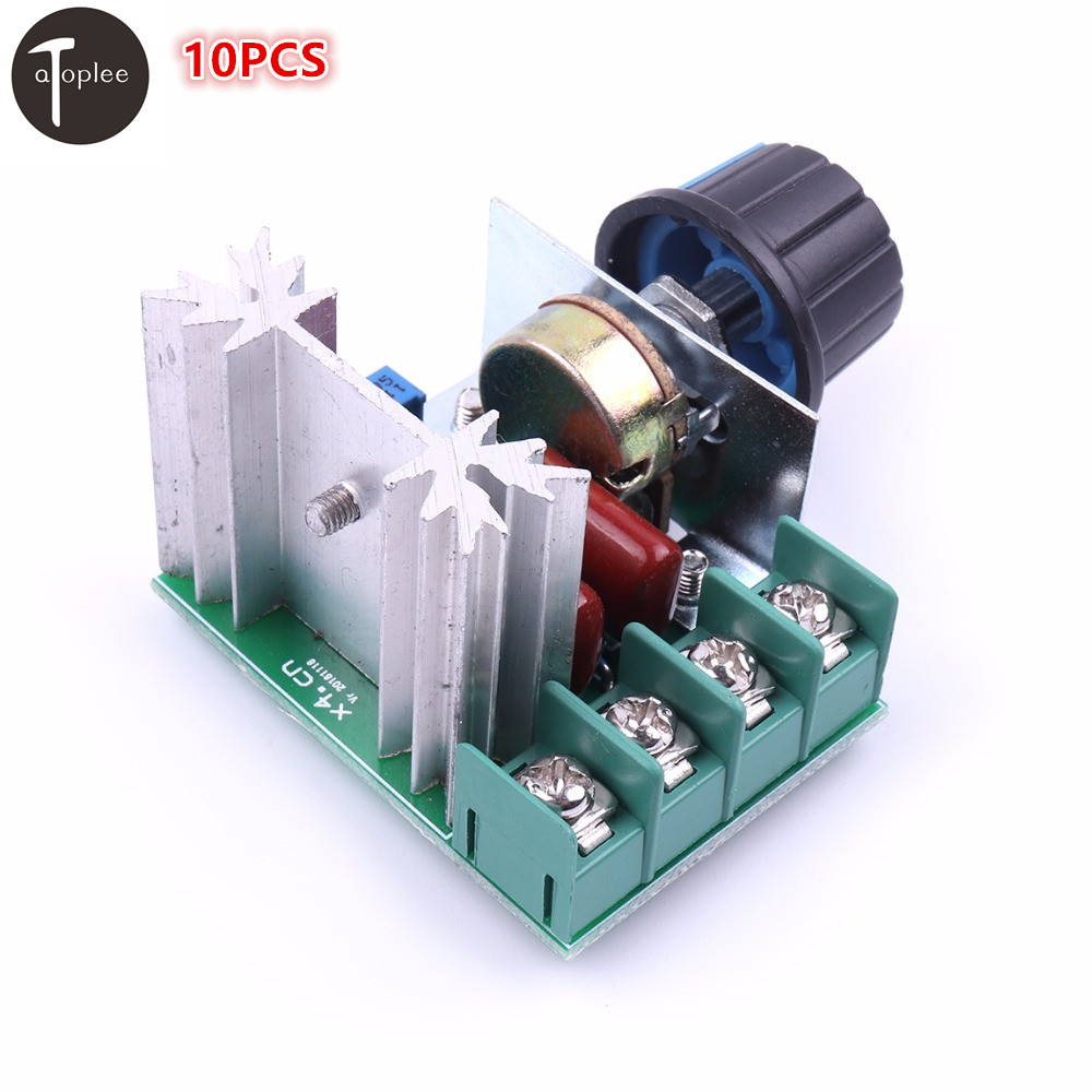 10PCS PWM 2000W AC Stepper Motor Speed Controller 50-220V CNC Adjustable Motor Speed Controller Voltage Regulator 20a universal dc10 60v pwm hho rc motor speed regulator controller switch l057 new hot