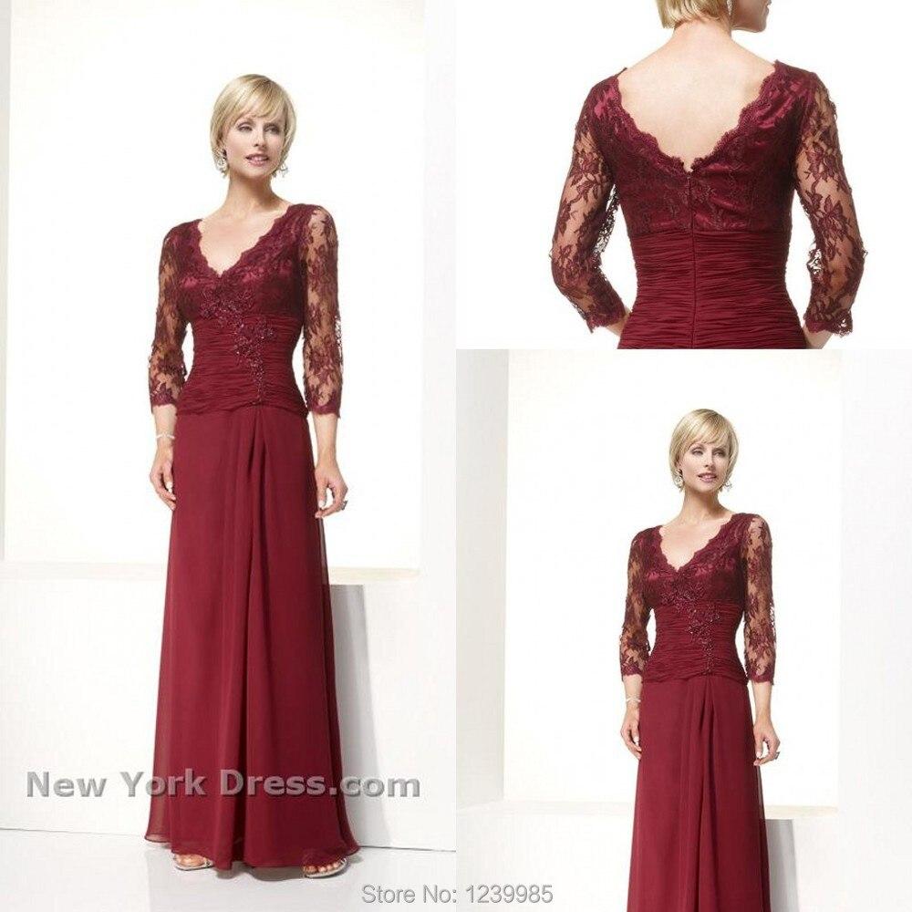 2017 Elegant Mother Of Bride Dresses Sexy V neck Applique ...