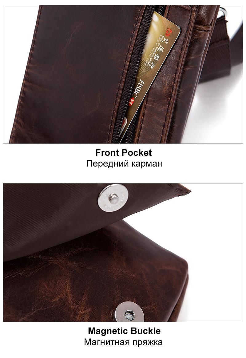 8 leather waist packs for men