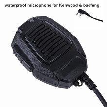 New IP54 Waterproof Handheld Microphone portable micphone K-SM12 Mini Speaker Mic for TK2130 TK370 BAOFENG UV-5R Walkie Talkie