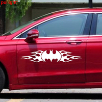 1 Pair Car Bat Flames Racing Fender Tail Decal For Reagl Truck Vinyl Side Sticker