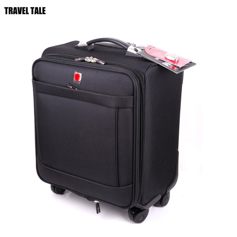 nouveau produit 1cb45 268bc US $96.32 14% OFF|TRAVEL TALE 18 inch oxford valise cabine roulette  suitcases with wheels carry on luggage-in Rolling Luggage from Luggage &  Bags on ...