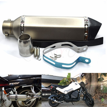 for Motorcycle parts Exhaust Universal 51mm Stainless Steel Motorbike Exhaust Pipe For HONDA CB500F CB 500 F CB500 F CB 500F