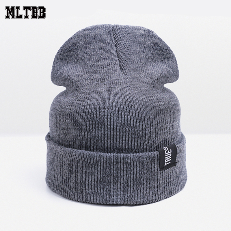 cff403c3cf1 MLTBB Fashion Winter Hats for Women Men Knitted Hat Female Cotton Hat Cap  Men Skullies Beanies Unisex Elasticity Knit Beanie -in Skullies   Beanies  from ...