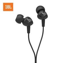 JBL C100SI 3.5mm 유선 이어폰 스테레오 음악 헤드셋 다이나믹 이어폰 원 버튼 원격 핸즈프리 마이크 블랙