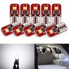 10x T10 W5W СВЕТОДИОДНЫЕ Лампы Canbus салона светильник для чтения на дверь поворота зазор сигнала светодиодные лампы для Audi A3 A4 B6 B8 A6 C6 80 B5 B7 A5 Q5