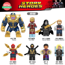 Super Heroes Building Blocks Thanos Iron Man Kapten Spider Man Kompatibel med Mini Legoingly Leksaker för barn zk30
