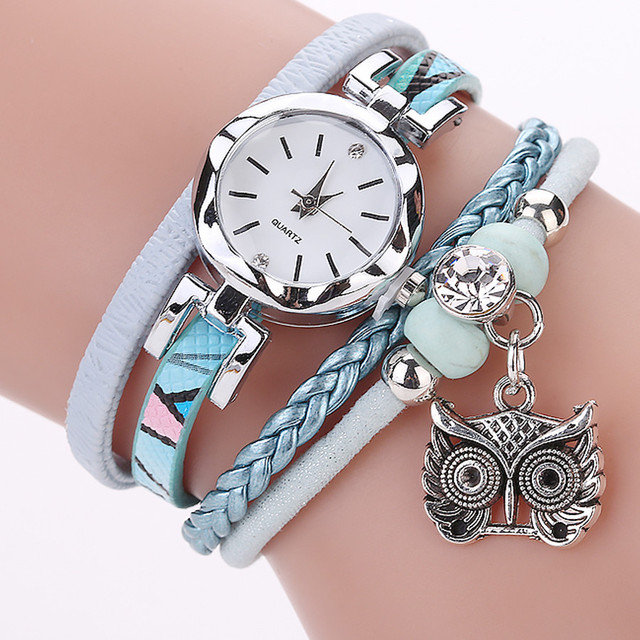 CCQ owl hanging drop Ladies Dress Watches Luxury Brand Women's Bracelet Watches