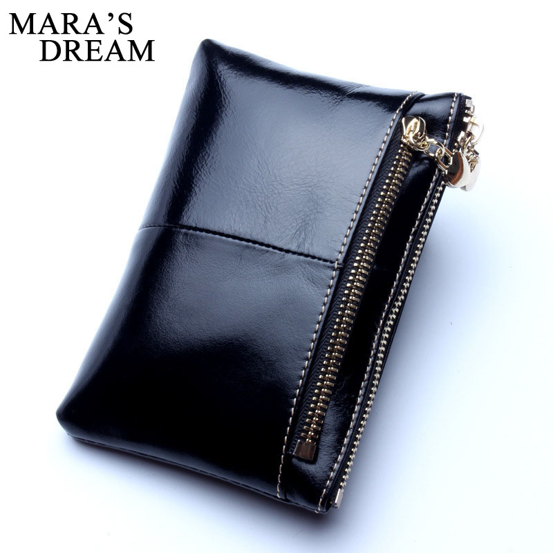 Mara's Dream Women Wallet Female Genuine Leather Women Wallet Coin Purse Small Card Holder With Zipper Clamp For Money Wallet dollar price women cute cat small wallet zipper wallet brand designed pu leather women coin purse female wallet card holder