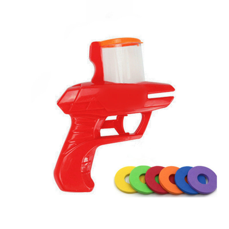 Fashion Classic Children's Toys Flying Saucer Gun EVA Soft Bullet Gun Bullets Flying Saucer Gun Party Kids Outdoor Toys