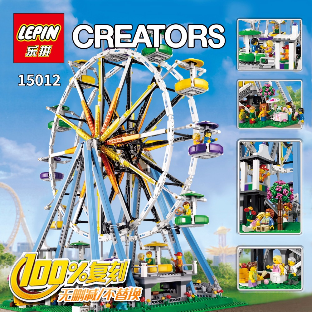 LEPIN 15012 2478Pcs City Expert Ferris Wheel Model Building Kits Blocks Bricks Toys Compatible 10247 puzzele for kids gift toy lepin 15012 2478pcs city series expert ferris wheel model building kits blocks bricks lepins toy gift clone 10247