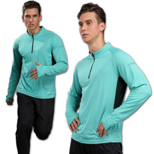 2017 New Men's Tops Long Sleeve Running Shirts Outdoor Training Sweat T Shirt GYM Sportswear Soccer Jersey Men Sports Tshirts