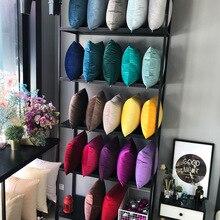 Funda de cojín de terciopelo de lujo, funda de almohada, funda de almohada verde, amarillo, rosa, azul, blanco, gris, hogar, cojines decorativos para sofá