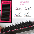 Charming eyelashes,grafting lashes, false eyelashes extension,3D Korean Silk individual all size B/C/D Curl 8-15mm 1lot