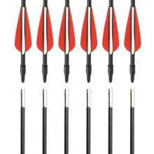 PANDARUS 6/12/24 PCS/lot Fiberglass arrows 30  Spine 700 Bow Darts Arrows shotting Archery arrow practice for recurve bow