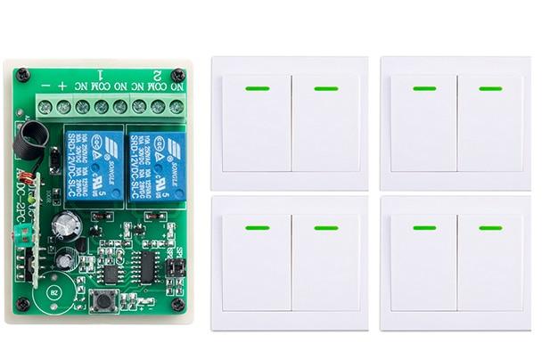 все цены на  New digital Remote Control Switch DC12V 2CH Receiver Wall Transmitter Wireless Power Switch 315MHZ Radio Controlled Switch Relay  онлайн