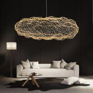 Image 2 - Nordic Art Hollow Cloud Design Pendant Lights Creative Bedroom Hotel Hall Restaurant Bar Designer Firefly Led Lighting Fixtures