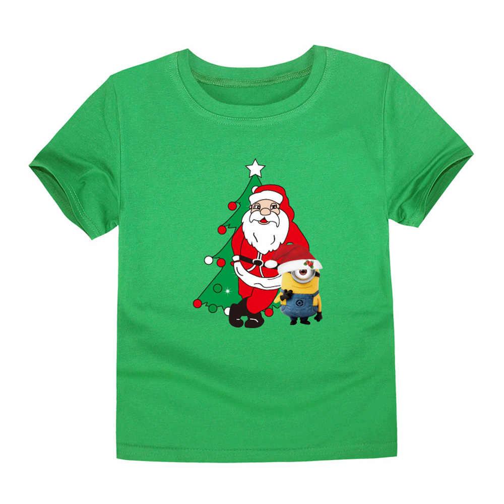 b067971e4 ... New Christmas Baby Girls Boys T Shirts Kids Cotton Christmas T-Shirts  Santa Claus Tees