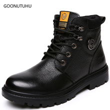 2019 new winter fashion men's boots genuine leather cow army shoes man ankle snow boot work shoe tactical military boots for men цены онлайн