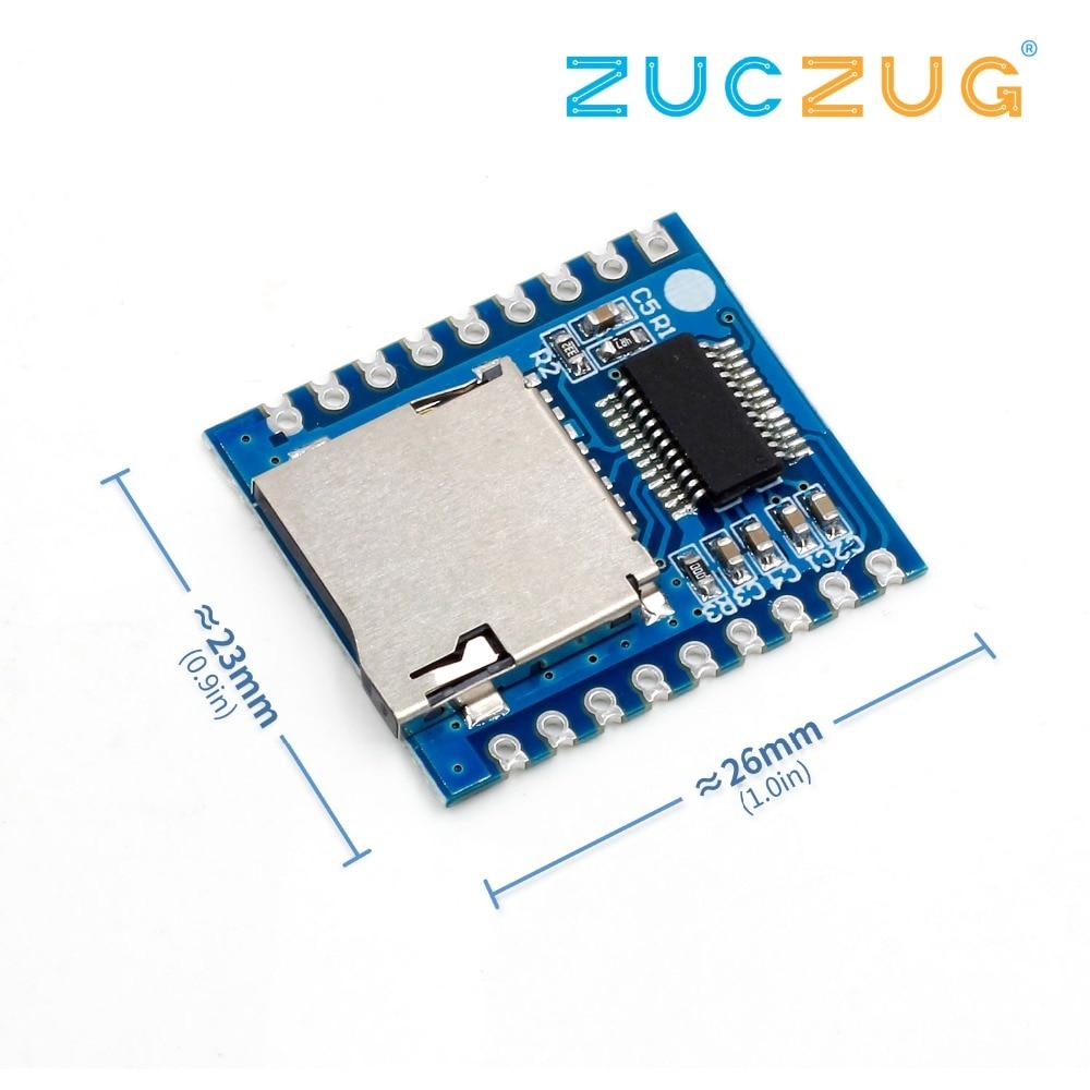 Mini MP3 Serial Control Voice Module Support SD//TF Card USB Development Board