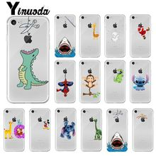 Yinuoda Funny animal Mickey Mouse Stitch Custom Photo Phone Case for Apple iPhone 8 7 6 6S Plus X XS MAX 5 5S SE XR Mobile Cases