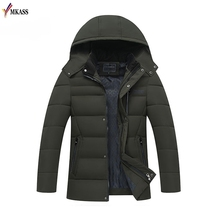 Men's Casual Parkas Solid Winter Jacket Men Hooded Thick Warn Padded Overcoat Man Jaqueta Masculino Inverno Plus size 4XL