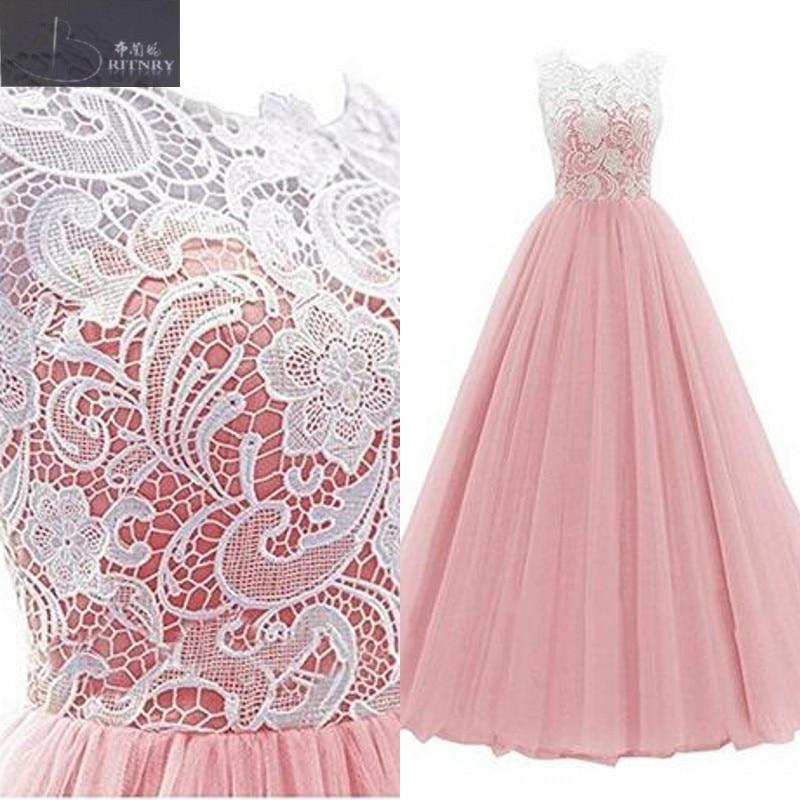 Классические свадебные платья из белого кружева с круглым вырезом и розовым или зеленым тюлем, китайский