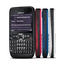 Teléfono móvil NOKIA E63 3G desbloqueado, teclado QWERTY, Wifi, Bluetooth, teclado ruso árabe, 100% Original