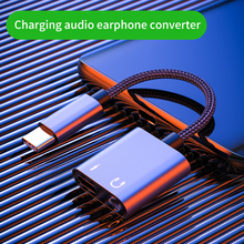 Type-C Earphone Converter 2 in 1 Charging Audio Adapter To 3.5mm Splitter Cable