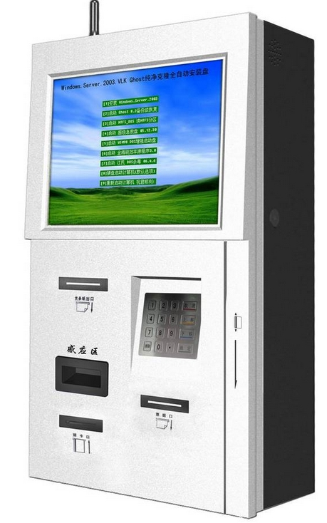 wall mounted all in one pc built in 19inch touch screen payment hd lcd tft display kiosk terminal