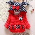 Novo de alta qualidade Casaco Crianças Dos Desenhos Animados Do Bebê Meninas Casacos de inverno da menina quente Do Bebê Outerwear Crianças Grossas de Inverno jaqueta Com Capuz