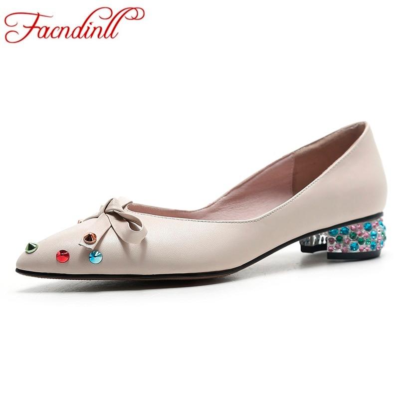 FACNDINLL 2018 high heels women pumps genuine leather handmade hot sale shoes woman dress party casual shoes pumps russian size facndinll genuine leather sandals for