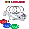 Alta qualidade multi color 5050 led angel eyes 80mm + 100mm de halo RGB kit kits anel para BYD F0 com controle remoto Colorido levou anjo olhos