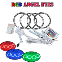 High Quality Multi Color 5050 Led Angel Eyes 80mm 100mm RGB Halo Ring Kits For BYD