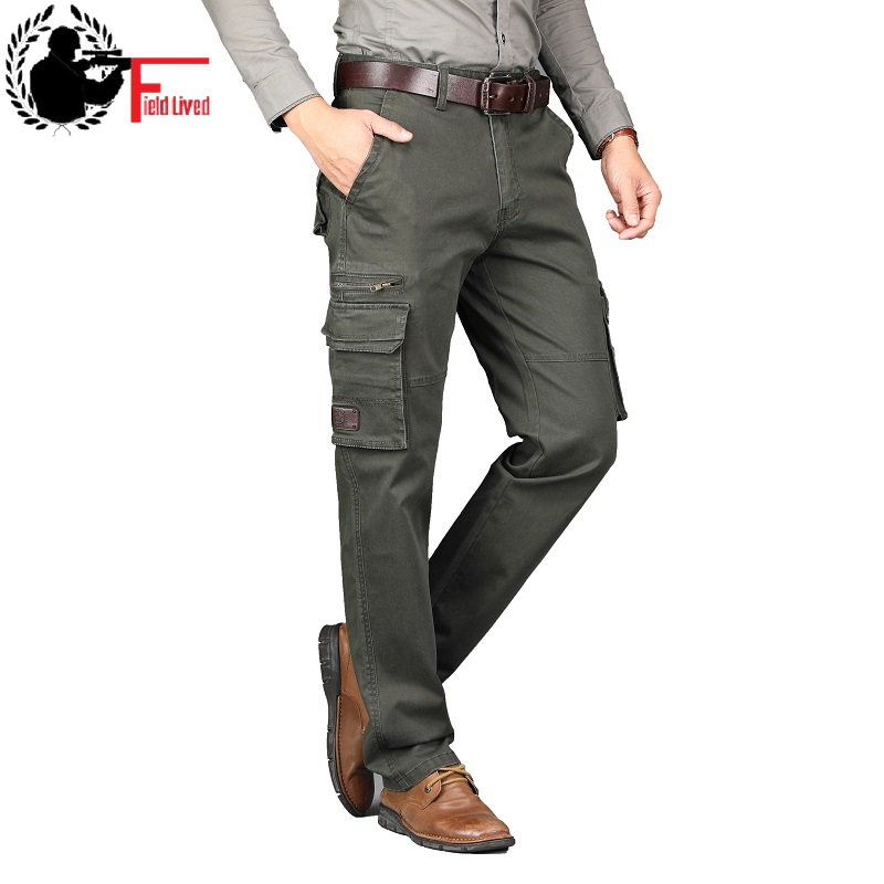 Cargo Pants Military Style Autumn Spring Army Cotton Men's Many Pockets Tactical Straight Fit Work Trousers Male Combat Joggers