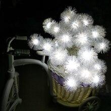 4 м 40 светодиодов Снежный шар гирлянда Сказочный светильник Рождественская гирлянда занавес светильник для наружного использования для дома Свадебная вечеринка праздничное украшение