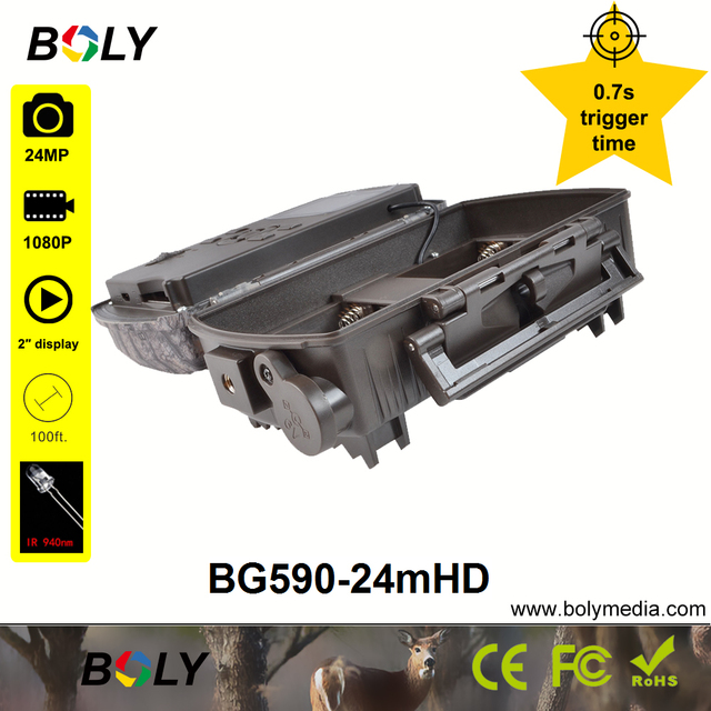 hunting cameras Boly 24MP 0.7S trigger time no glow IR 940nm invisible IR photo traps sounds recording 100 ft trail game cameras 5