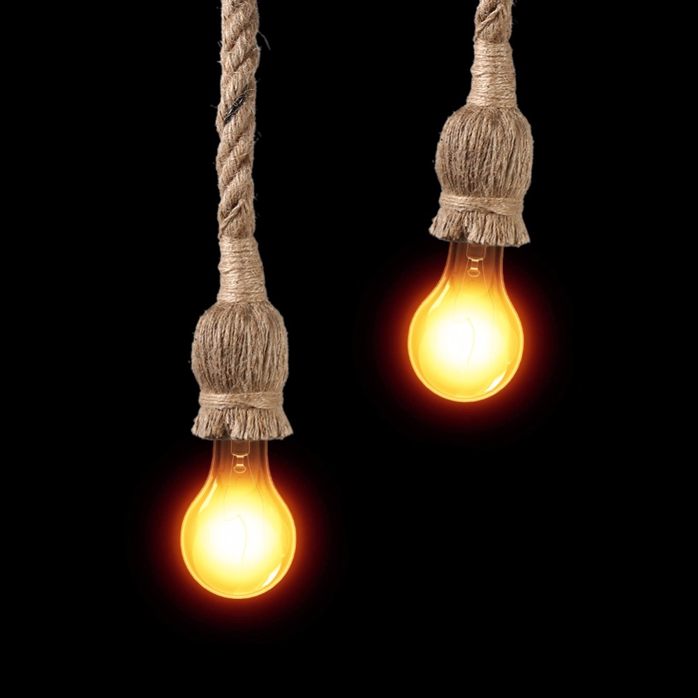 Vintage Rope Shaped Pendant Lights