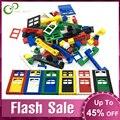 102 шт двери окна кирпича DIY Дом строительные блоки кирпичи игрушки город архитектора игрушки для детей совместимы с фирменными блоками GYH