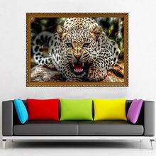 5d diy diamant leopard muster Kreuzstich diamant malerei unfinished tier stickerei perlen muster bild von strass