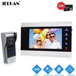 JERUAN 720 P 7 дюймов Видео Домофонные дверной звонок разблокировки внутренней Системы запись монитор + 1.0MP HD COMS Камера с обнаружение движения