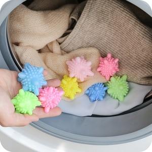 Image 2 - 5 قطعة قابلة لإعادة الاستخدام الغسيل الغسيل كرات مجفف الملابس كرات قابلة لإعادة الاستخدام النظيفة أدوات الغسيل غسل تجفيف منعم أقمشة الكرة مجففات