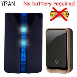 Yifan new wireless doorbell no battery waterproof eu plug led light 150m long range smart door.jpg 250x250