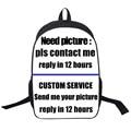 Custom Backpack Anime Attack on Titan / Tokyo  Black  / Po Backpack Boys Bags Girls School Bags Gift Backpacks