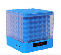 New Mini Cube Square LED Light Bluetooth Wireless Speaker Woofer Radio FM Handfree Portable Enceinte Bluetooth Portable Puissant